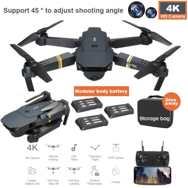 EMOTION DRONE 2.0 in-built 4k HD Professional Camera with Bag 1